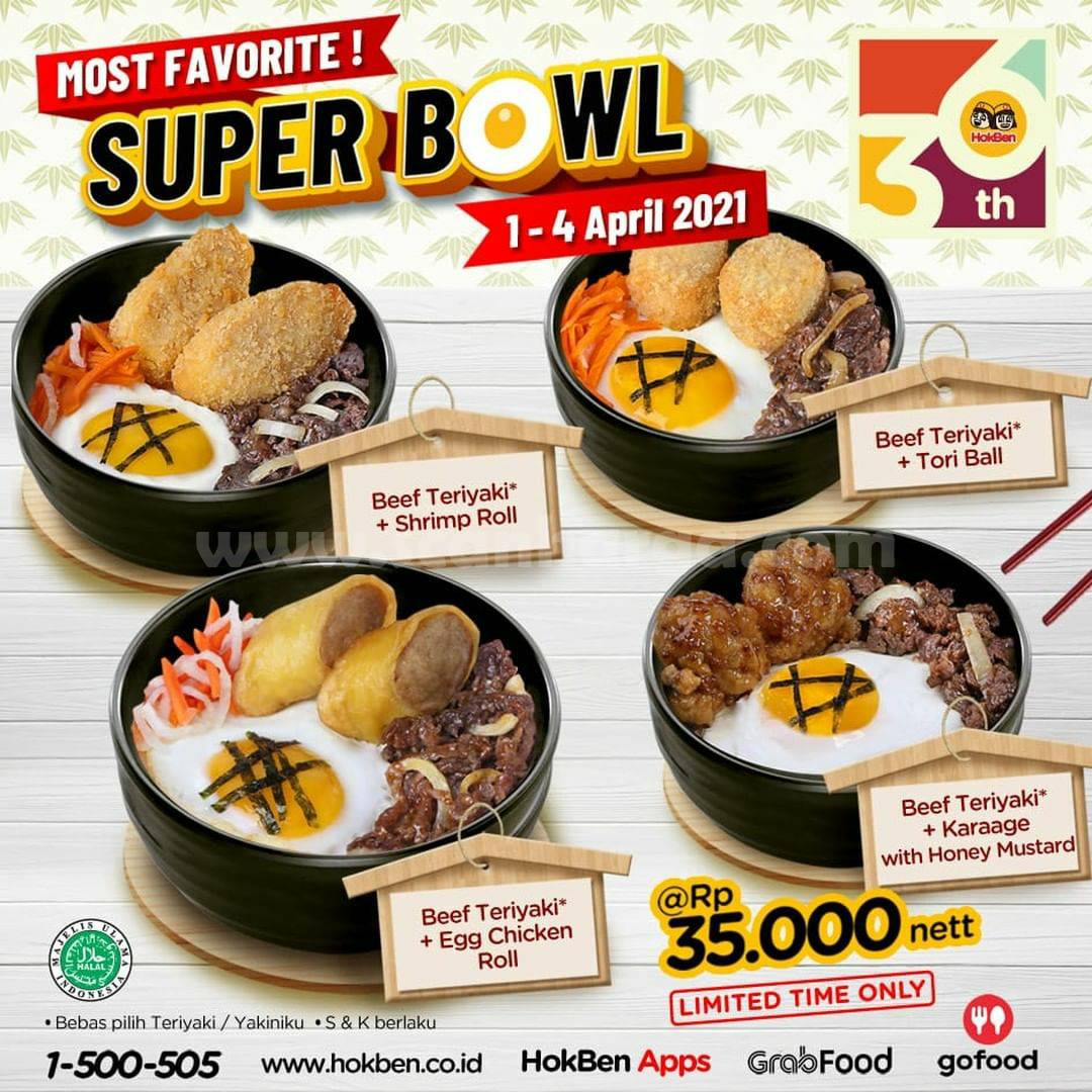 Promo Hokben Super Bowl Periode 1 - 4 April 2021