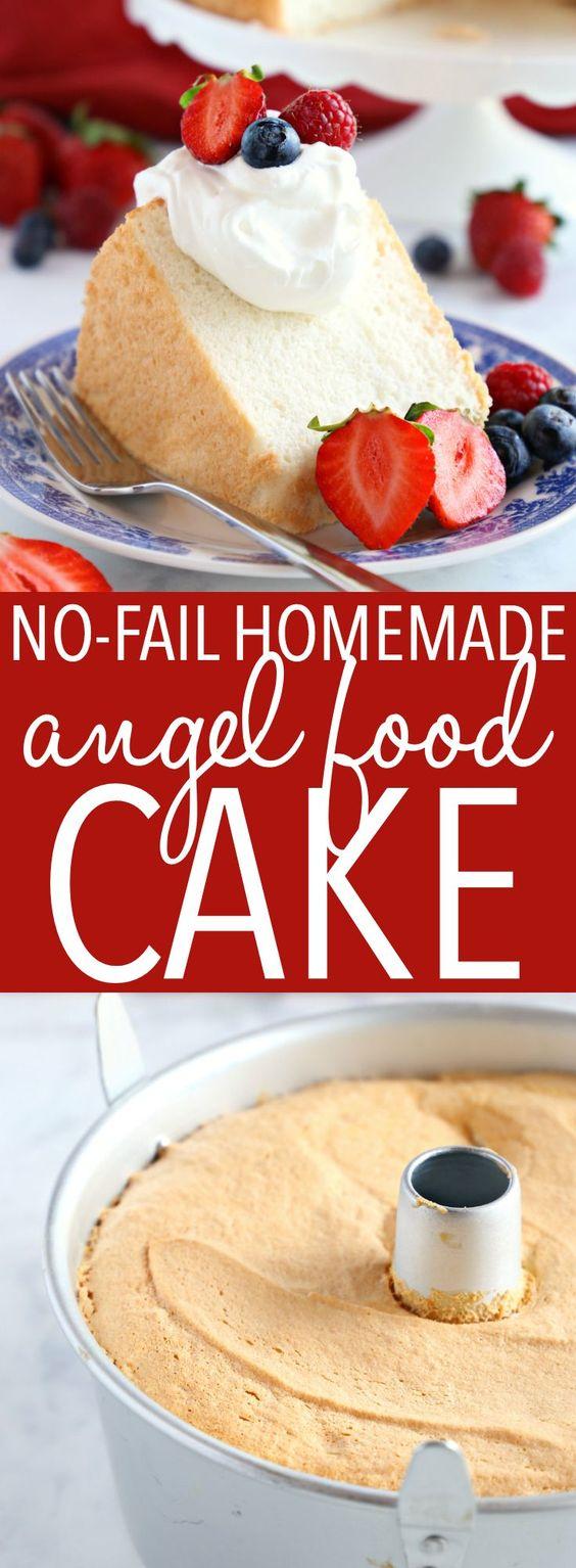 No Fail Homemade Angel Food Cake