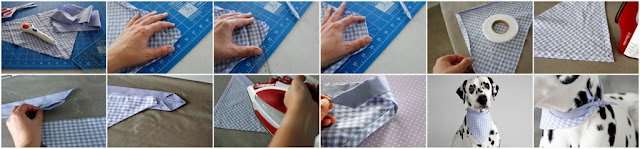 Step-by-step instructions for making a no-sew dog bandana