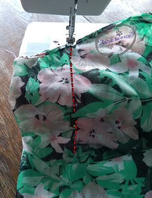 Adzik tworzy - DIY szycie sukienki trapezowej