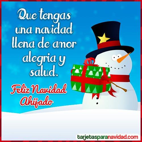 tarjetas feliz navidad ahijado
