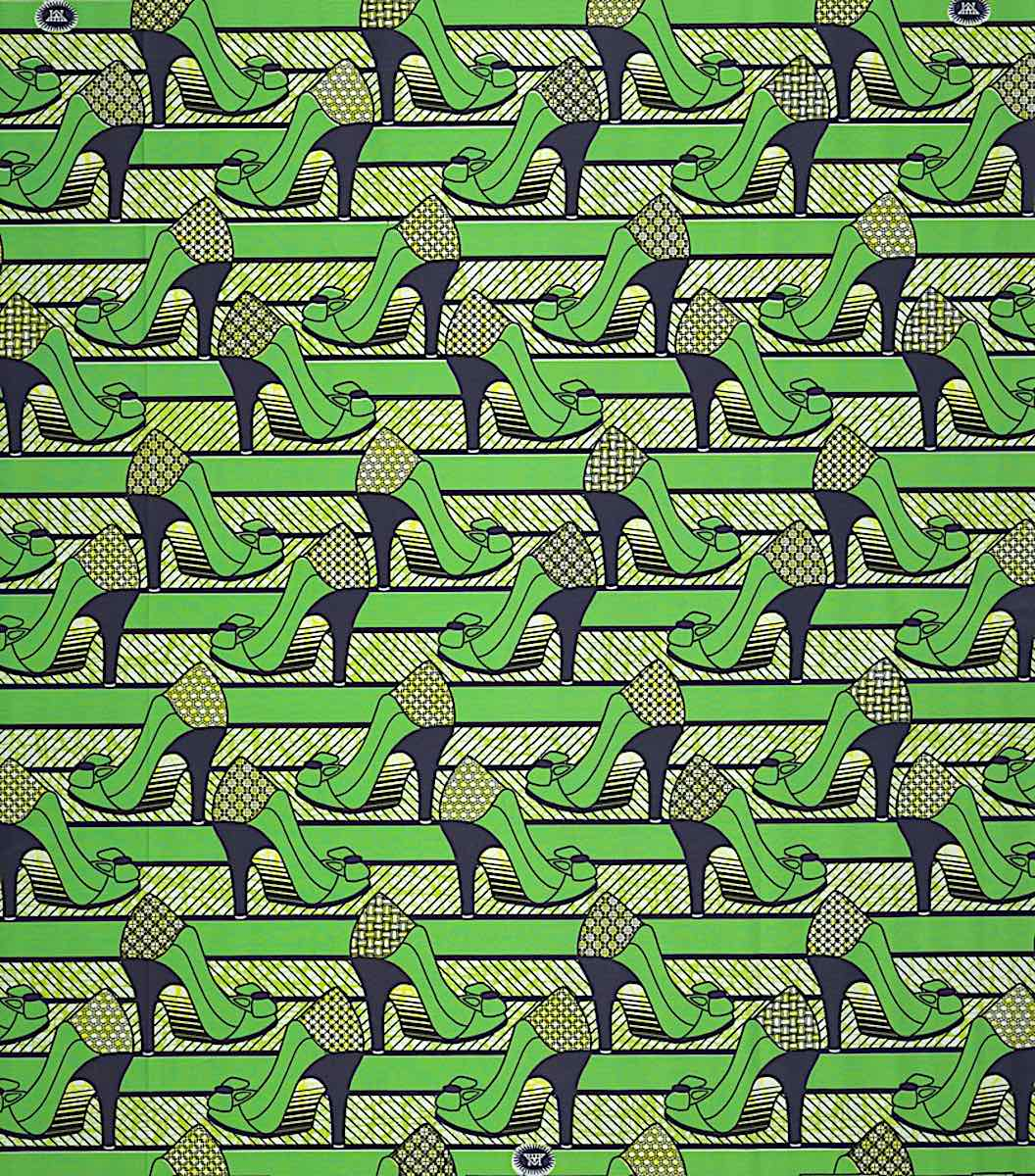 a textile pattern in green 2011