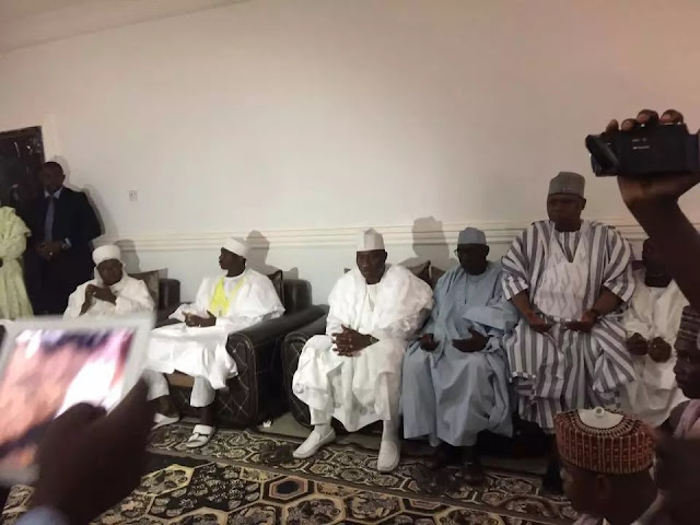 GEJ visits the Dasuki family