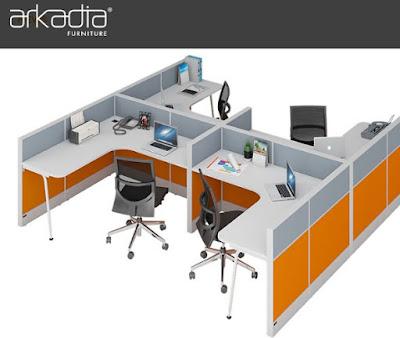 Furniture meja kantor kubikel Arkadia