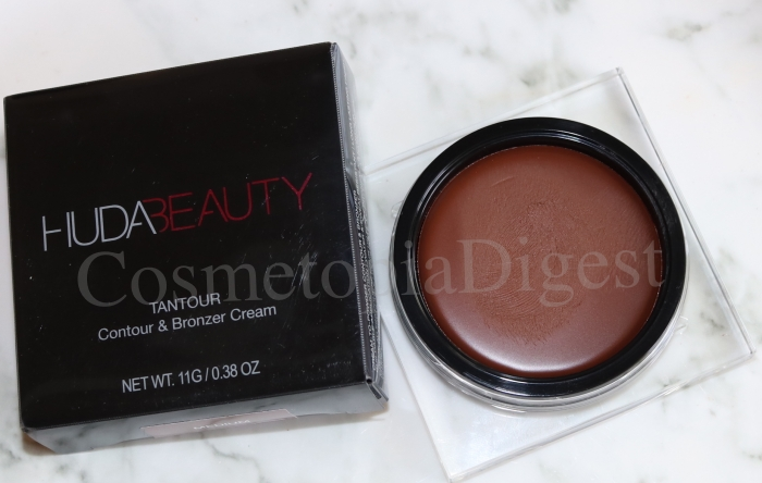 Review, swatches, and how to use tutorial of Huda Beauty's Tantour Contour And Bronzer Cream