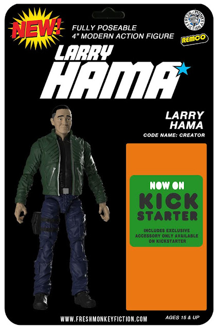 "Larry Hama: A Real American Creator 4"" Action Figure Kickstarter Campaign by Fresh Monkey Fiction"