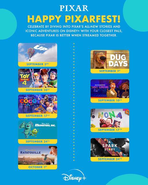 Pixar Fest List of Events