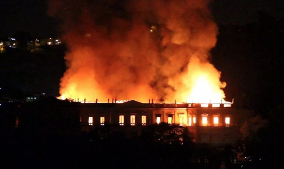 Rio's 200-year old National Museum hit by massive fire