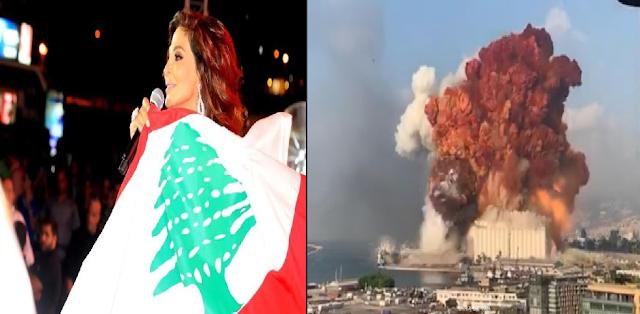 إليسا تنشر صورا لدمار منزلها بعد انفجار بيروت على تويتر