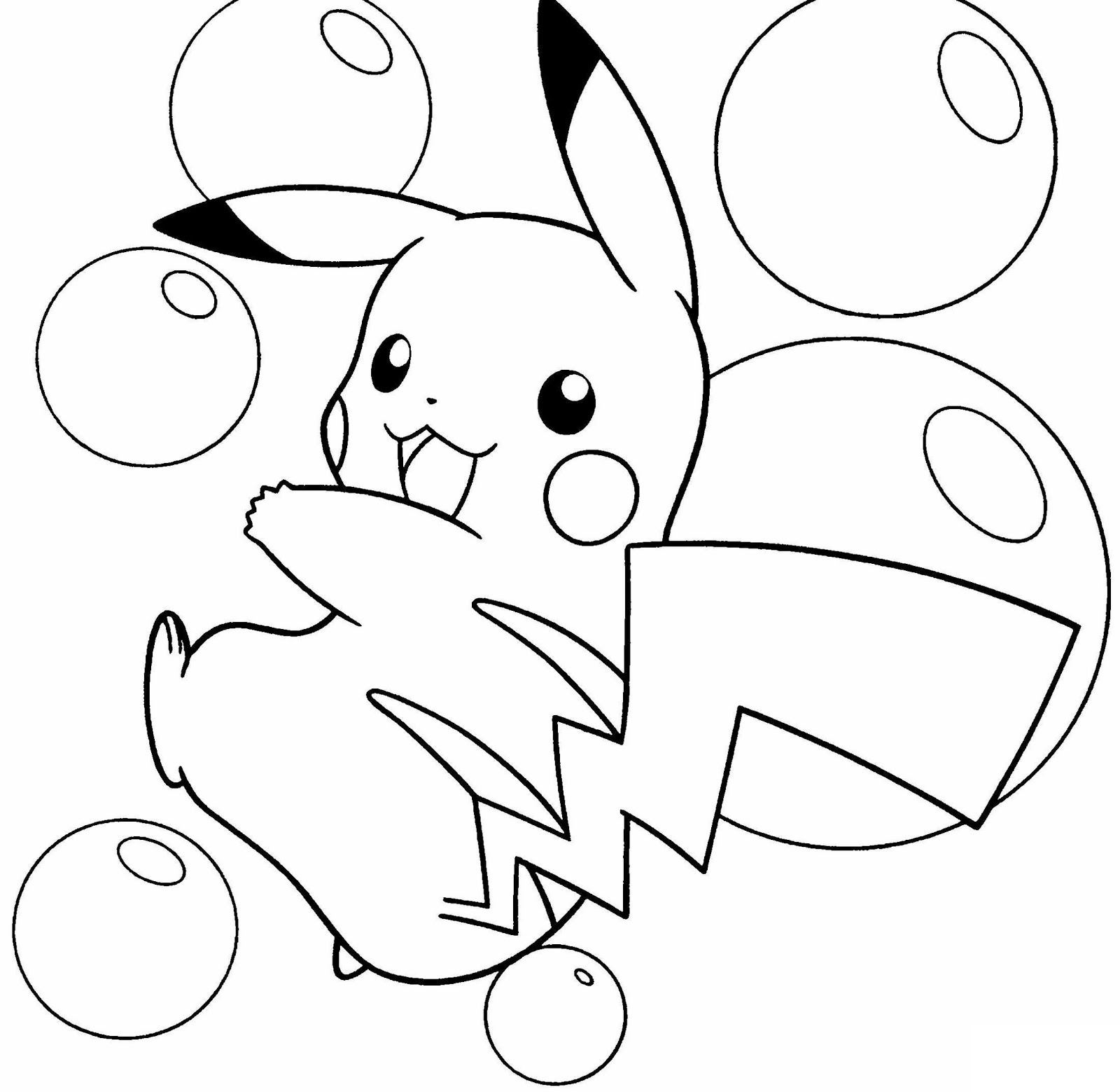awesome pikachu pokemon drawing for kids to color