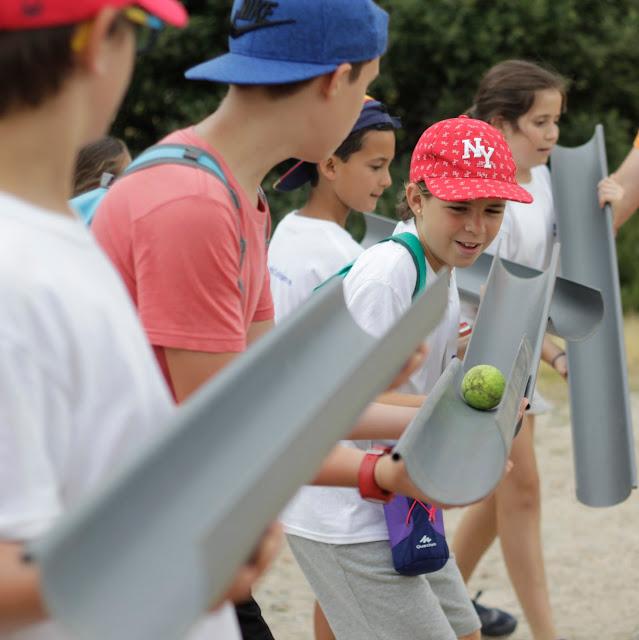 Juego de equipo en Madrid Berlitz Camp