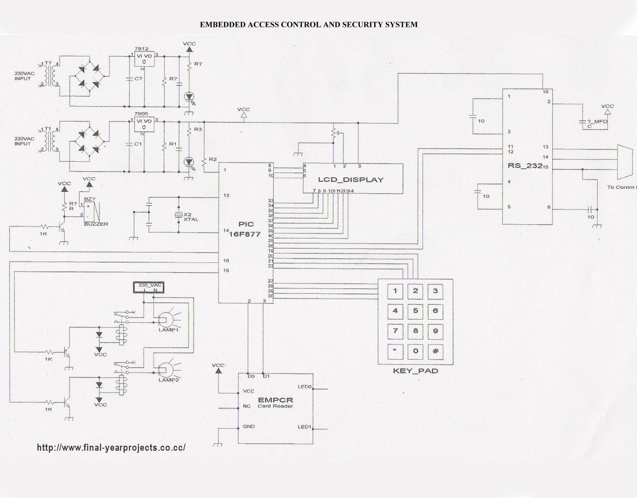 access control using rfid microcontroller project final year