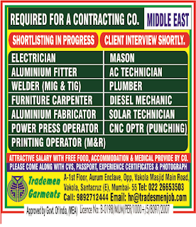 Contracting Company Required in Middle East