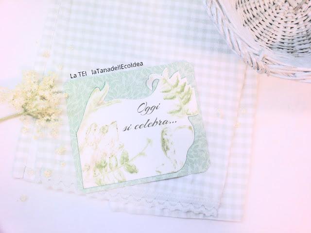 Invito verde con stampa eco di foglie