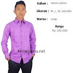 Fashion Kemeja pria kantoran motif polos terbaru