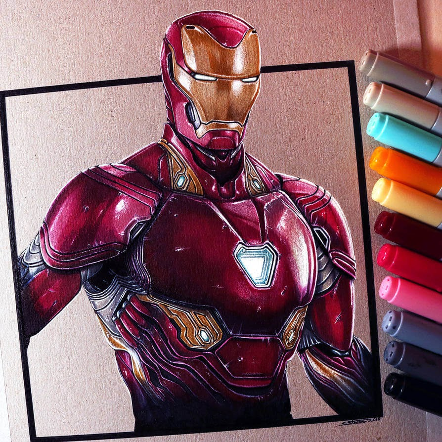 14-Iron-Man-C-Straver-Fantasy-Movie-Characters-Drawings-www-designstack-co