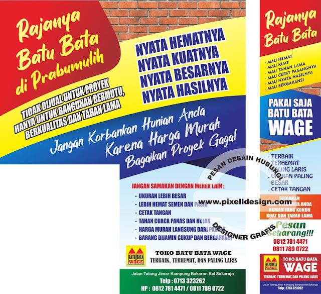 Banner Spanduk Iklan Toko Besi dan Bangunan