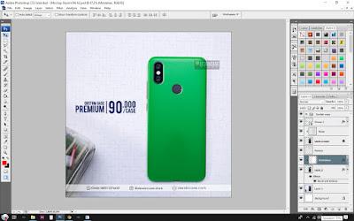 Cara Desain Mockup Casing Xiaomi Redmi Mi A2