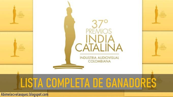 LISTA COMPLETA DE GANADORES DE LOS PREMIOS INDIA CATALINA 2021