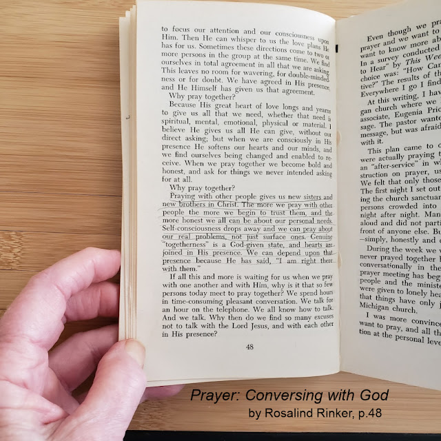 P. 48, Table of Contents, Prayer: Conversing with God by Rosalind Rinker