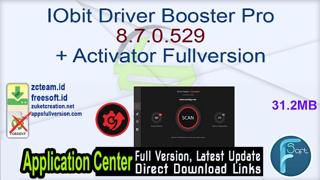IObit Driver Booster Pro 8.7.0.529 + Activator Fullversion