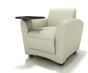 Santa Cruz Tablet Chair at OfficeFurnitureDeals.com