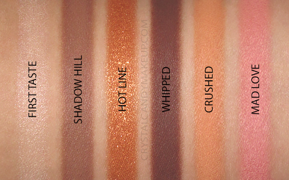 NARS Afterglow Eyeshadow Palette Swatches