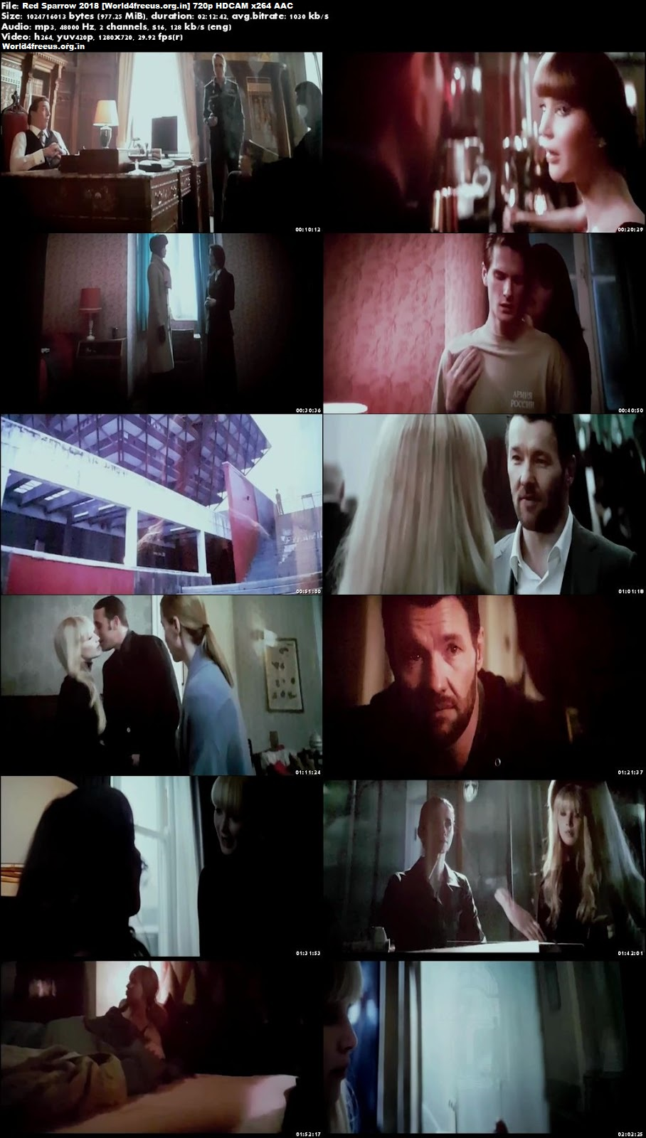 Red Sparrow 2018 Full Hollywood English hindi Movie Download HDCAM