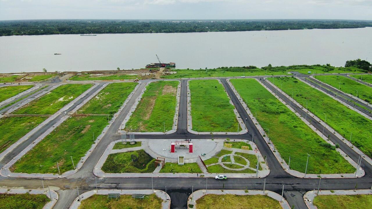 Hình ảnh thực tế dự án Vạn Phát Sông Hậu tháng 8/2021