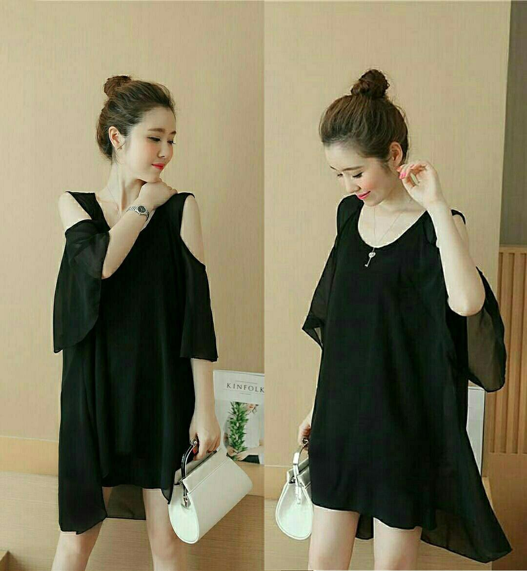Jual Blouse Zaraa Hole Black Blouse - 12881