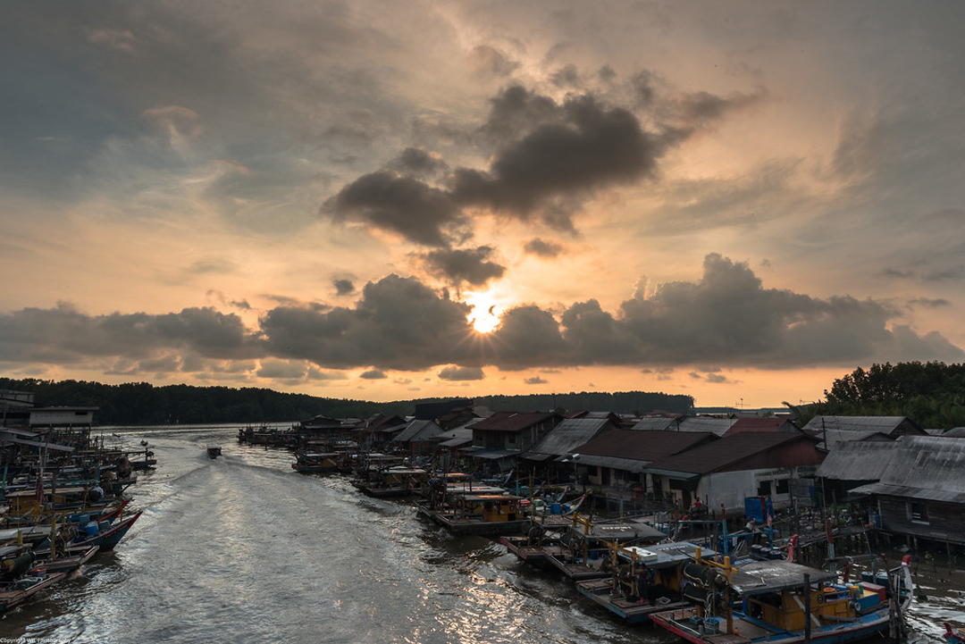 Oustanding view of Kuala Sepetang or Port Weld