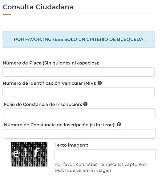 Formato Ciudadana para Consultar y Checar Placas de Carros y Motos con reporte de robo en Mexico