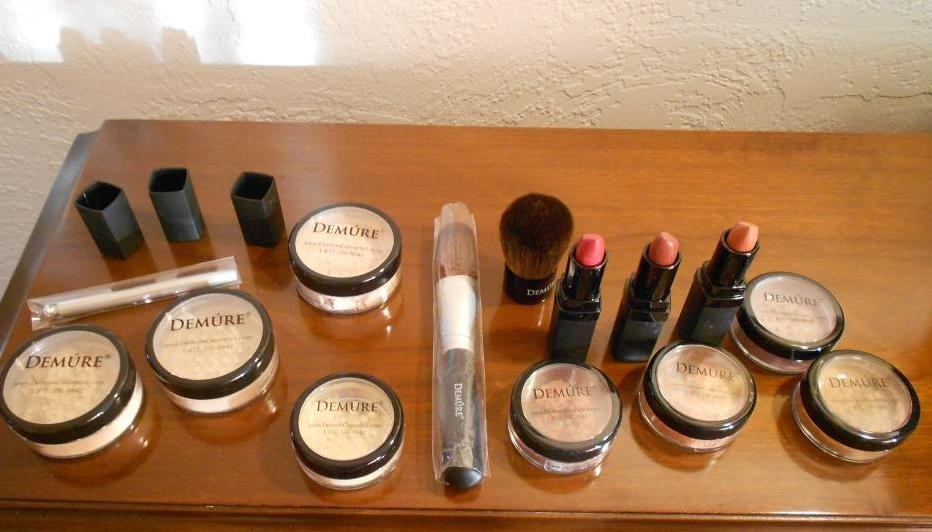 Demure Mineral Cosmetics assorted makeup