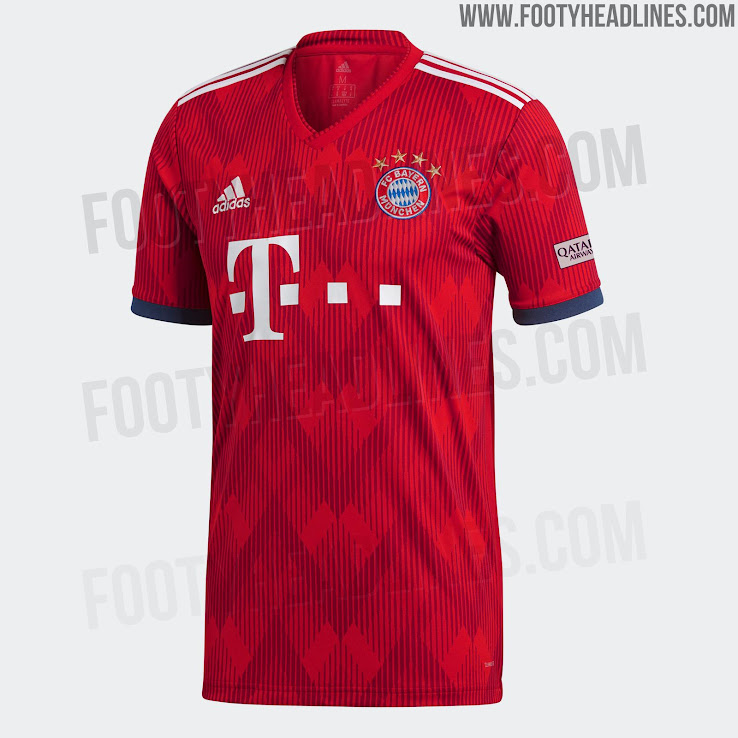 new style 79cf7 d8af9 Bayern München 18-19 Home Kit Released - Footy Headlines