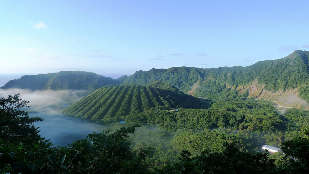 Aogashima Volcanic Island Japan