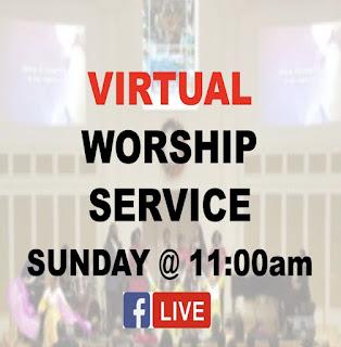 announcement posting, virtual worship service