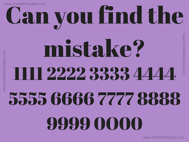 It is a picture puzzle in which your challenge is find the mistake in this puzzle image.