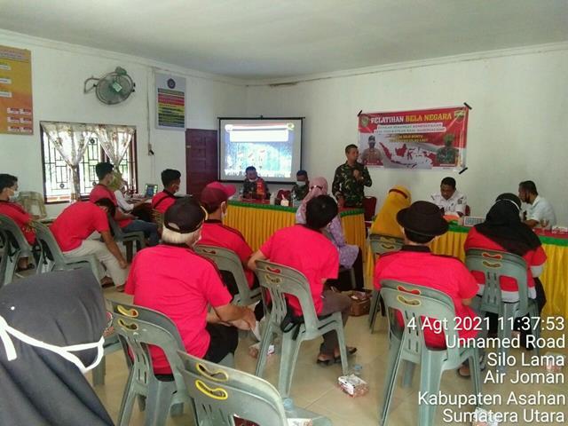 Laksanakan Sosialisasi Bela Negara Dilakukan Personel Jajaran Kodim 0208/Asahan Diwilayah Binaan
