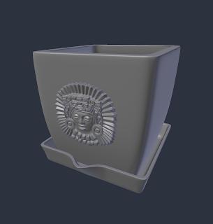 Mayan Pot Design STL file by Paul Van Gaans