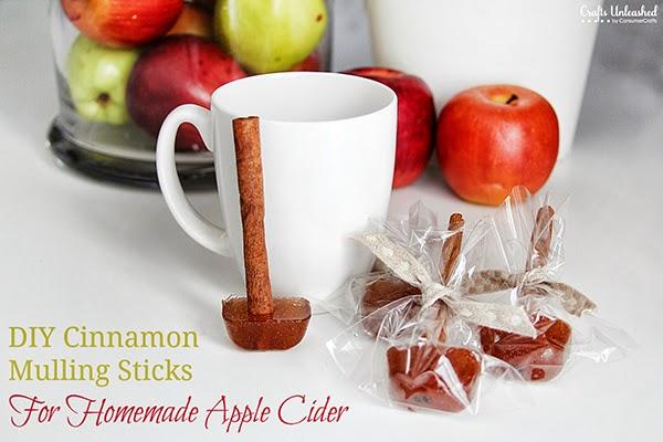 DIY Cinnamon Mulling Sticks for homemade apple cider tutorial