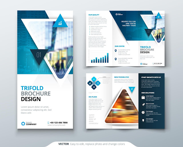 Trifold Brochure Template For Business 06 Graphics Zone Mabd86