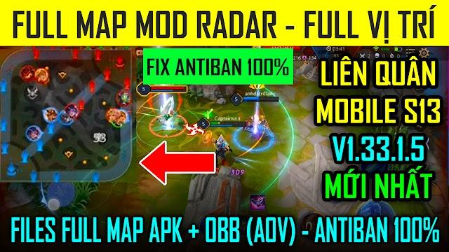 Mod Full Map - Radar (AOV) Liên Quân Mobile 1.33.1.5 Mới Nhất Latest Version Download