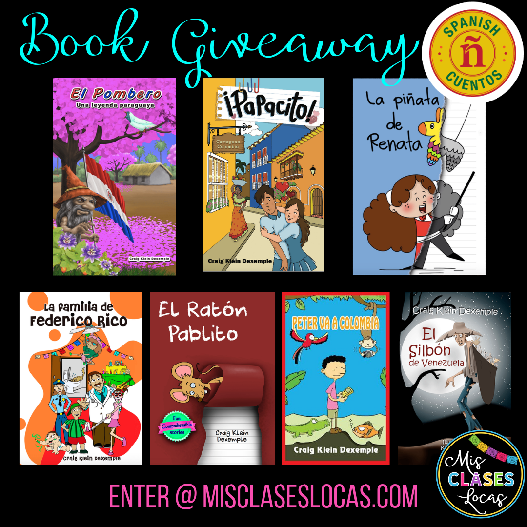 Spanish Cuentos Book Bundle + Mis Clases Locas Giveaway - enter by July 24, 2019