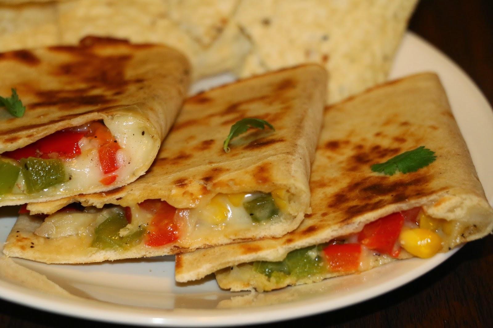 yummy delight for u Vegetarian Quesadilla Recipe