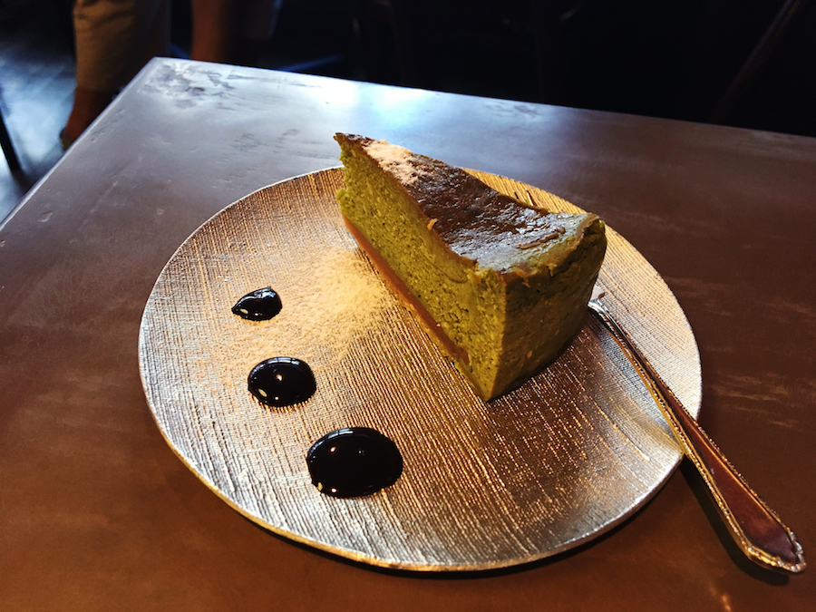 Fluffy and light matcha chocolate cheesecake from LiLo Coffee Roasters in Osaka Japan