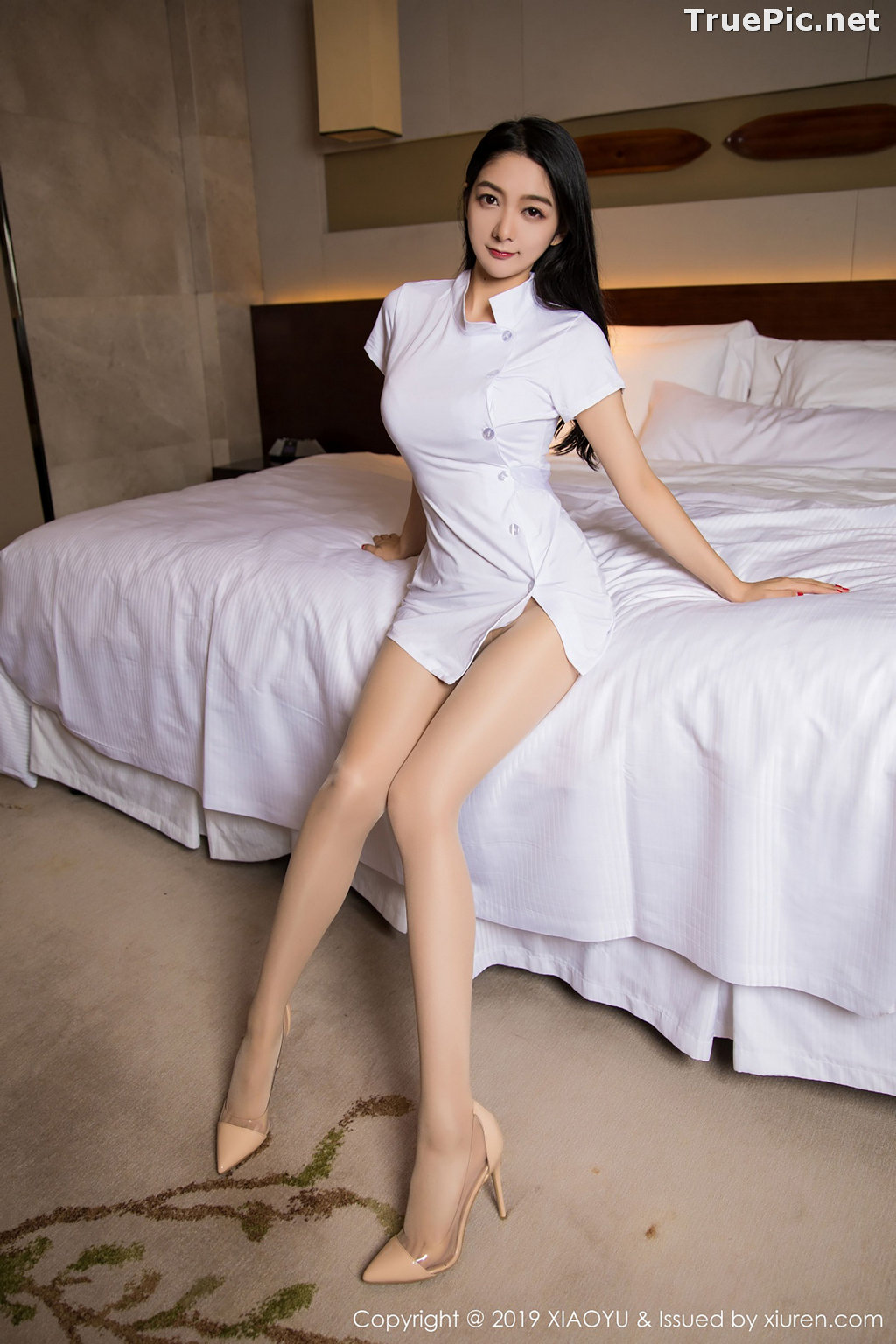 Image XiaoYu No.004 - Chinese Model - Xiao Reba (Angela喜欢猫) - White Sexy Nurse - TruePic.net - Picture-1