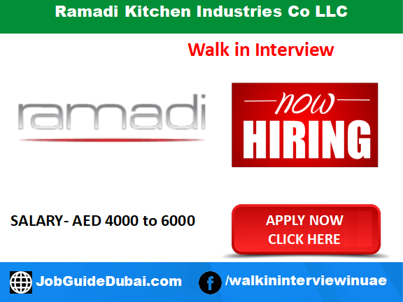 Ramadi Kitchen Industries Co LLC  career for Sales Executive jobs in Dubai UAE