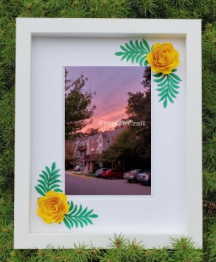 Paper Flower Photo Frame