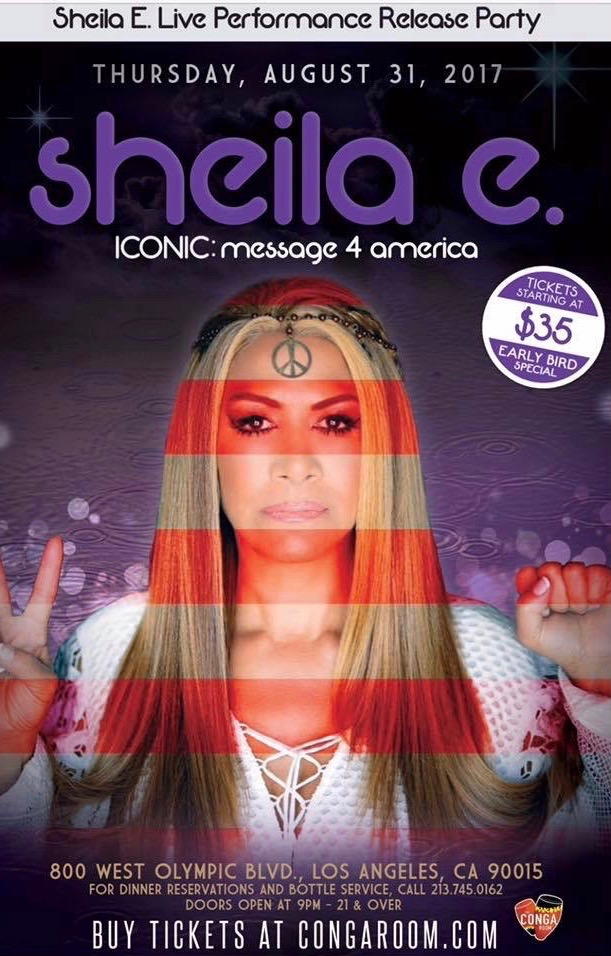Music Television presents Sheila E and her interpretation of America written by Prince