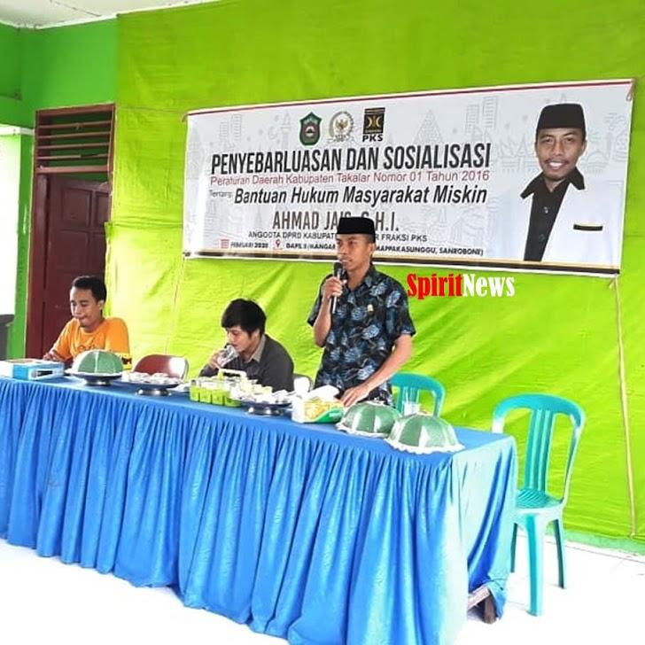 Anggota DPRD Takalar Partai PKS, Sosialisasikan PERDA No 01 2016 Tentang  Bantuan Hukum Masyarakat Miskin